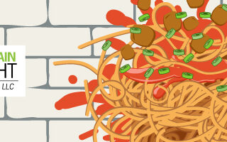 DOes your marketing pass the Spaghetti test graphic
